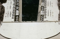 Blick von der Staumauer des Hoover-Damm