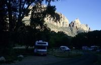 Abendstimmung am Campingplatz im Zion Nationalpark