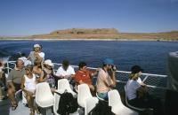 Gut besuchtes Ausflugsboot