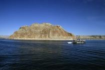 Herausragender Felsen im Lake Powell