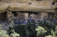 Blick auf die Wohnungen der Anasazi