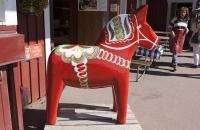 Großes Dalarna Pferd in Nusnäs
