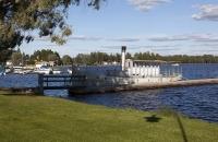 Altes Schiff am Siljansee bei Mora