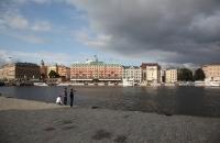 Blick auf das Grand Hotel in Stockholm