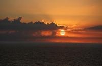 Sonnenuntergang in der Nordsee