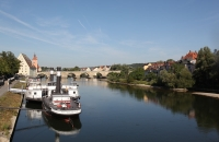 Blick auf die Donau in Regensburg