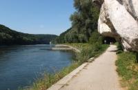 Weißer Felsen an der Donau