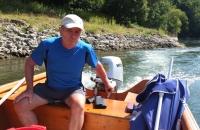 """Der """"Skipper"""" der Donaufähre :-)"""
