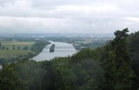 Blick von der Walhalla Donau aufwärts