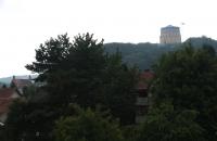 Die Befreiungshalle von Kelheim aus gesehen