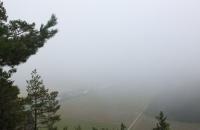 Vom Rosskopf hatte man bei dem Nebel leider nicht sehr viel Fernsicht :-(