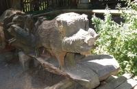 Eine Wildsau aus Holz :-)
