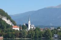 Kirche von Bled in Slowenien