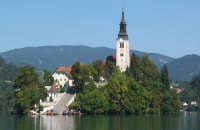 Postkartenidylle in Bled in Slowenien