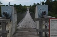 Vor der Hängebrücke Santa Lucia