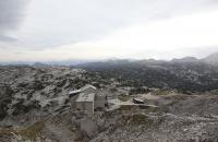 Bergstation einer Gondelbahn