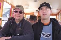 Roland und ich in der Schafbergbahn