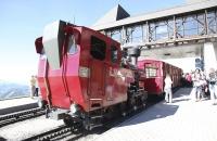 Unser Zug hat die Bergstation der Schafbergbahn erreicht