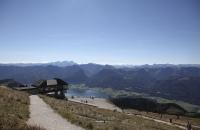 Ausblick von Schafberg auf den Wolfgangsee