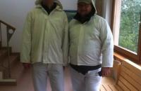 Roland und ich sehr fesch in den Halleiner Salzwelten