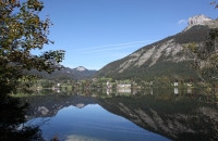 Blick auf den Ort Altaussee