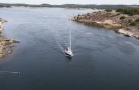 Boot bei Einfahrt