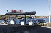Tankstelle für Boote in Mollösund