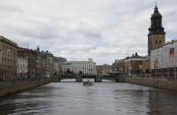 Fluss durch Göteborg
