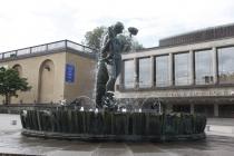Springbrunnen vor Göteborg's Konzerthaus