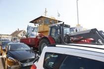 Ein Traktor war auch auf der Fähre :-)