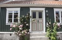 Geschmückter Hauseingang