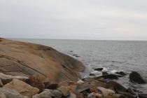Schön geformter Felsen
