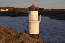 Der Leuchtturm im warmen Abendlicht
