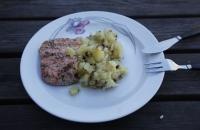 Mein Abendessen – Lachs mit Kartoffelschmarrn
