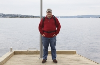 Ein alter Schwede vor dem Osloer Fjord