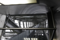 Blick aus dem Schrägaufzug zur Plattform