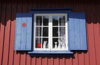 Typisches Fenster in Slussen