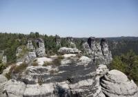 Blick auf die Felsformationen bei der Bastei