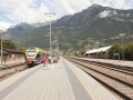 Am Bahnsteig in Meran