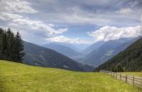 Blick über die schöne Landschaft