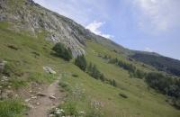 Hier verlief der Weg durch kahlere Landschaft