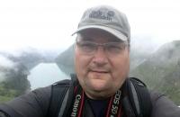 Selfie vor dem Stausee Wasserfallboden