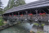 Alte Holzbrücke in Sillian