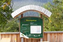 Tafel an der Station Baumgartner