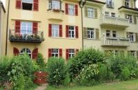 Liebliche Häuser am Donauufer