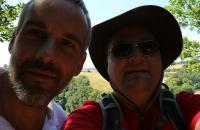 Thomas und ich über dem Kloster Weltenburg
