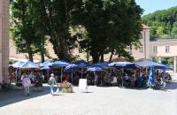 Biergarten des Kloster Weltenburg