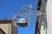 Schild vom Weissen Bräuhaus