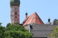 Turm des Klosters in Andechs