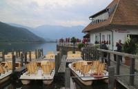 Tretboote am Kalterer See